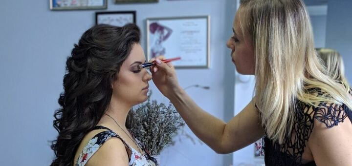 Професійний денний, вечірній або пробний весільний макіяж в салоні «Bozhena Beauty Studio»