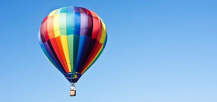 Скидка до 52% на организацию корпоратива на воздушном шаре с Дедом Морозом от «Небо для тебе»