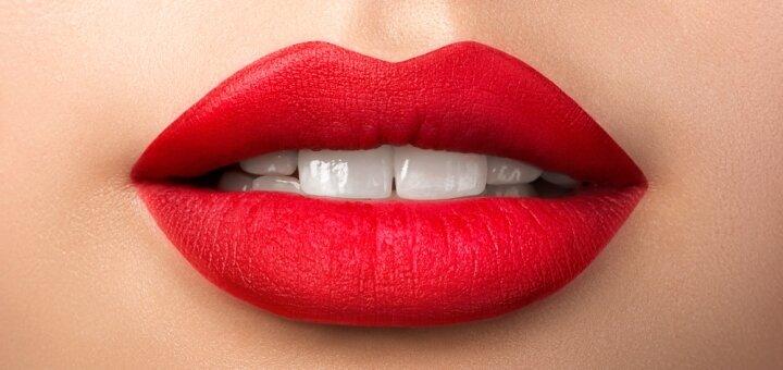 Перманентный макияж губ «Nude Lips» в студии красоты «Elite Permanent»