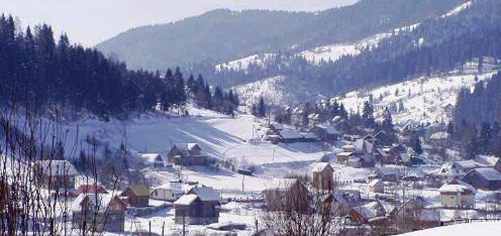 От 4 дней на Рождество с питанием в домах из натурального бруса «Drin-Lux» в Славском