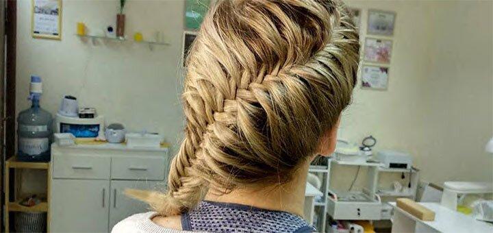 Реконструкция волос c укладкой в парикмахерской «Рубин»