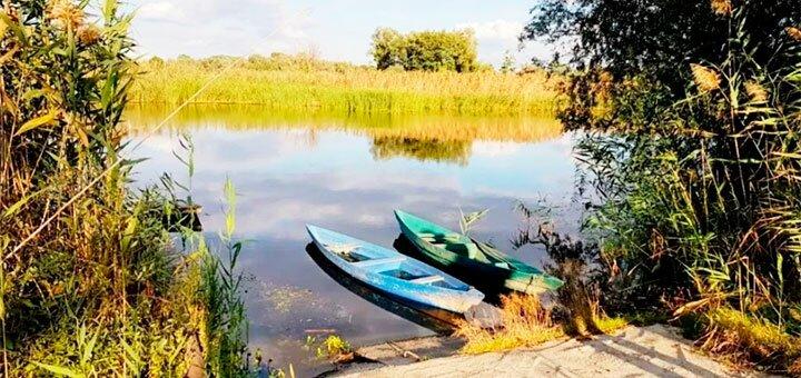 От 2 дней на берегу реки с баней, рыбалкой и катанием на лодке в «Ранчо Рай» под Киевом