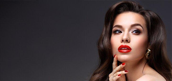 Профессиональный вечерний макияж и укладка от студии «ELEKTRA»