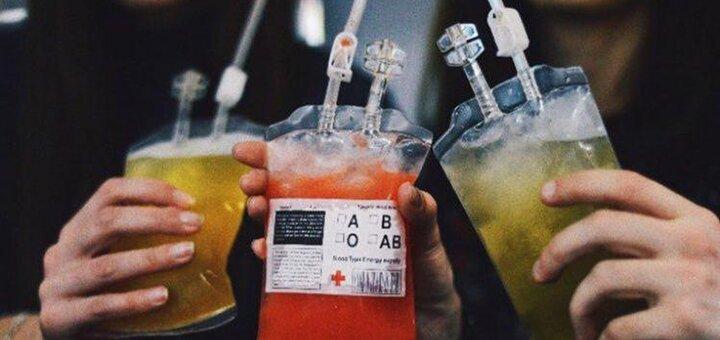 До 4 экстрим-коктейлей «Слёзы медсестры», «Сотрясение мозга» или «Алхимик»в баре «Морфий»