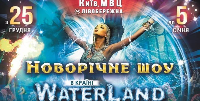 Скидка 200 грн на два любых билета на новогоднее шоу «Waterland» с 25 декабря по 3 января