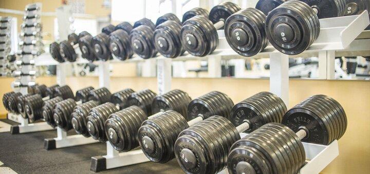1 месяц посещения тренажерного зала в сети спортивных клубов «SteelGym»