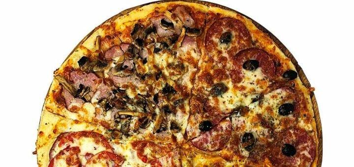 Скидка 50% на всё меню кухни, суши, пиццу, бургеры с доставкой или самовывозом от «Cactus bar»