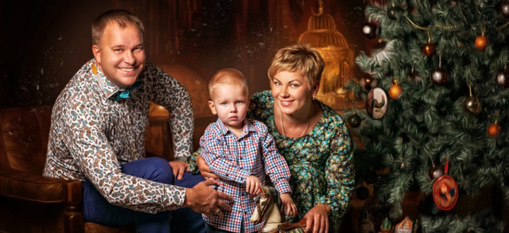 Профессиональная семейная фотосессия в фотостудии «Золотые ворота»