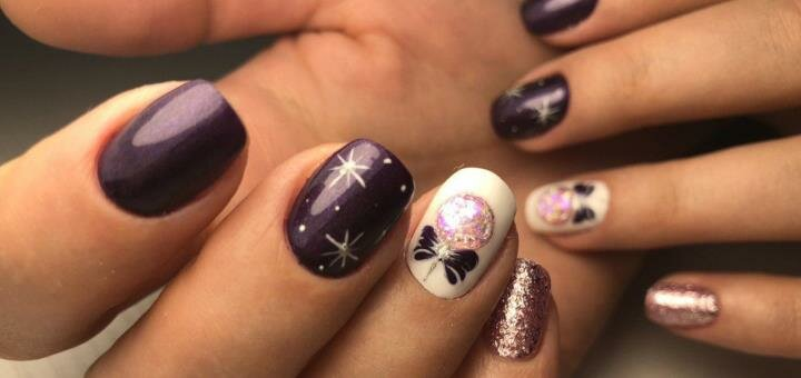 Маникюр на Новый год от студии красоты «Mandarin Nail Studio»