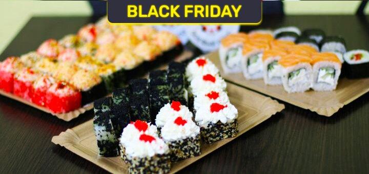 Скидка 60% на сет «Black Friday» в сети магазинов «Суши Сет»