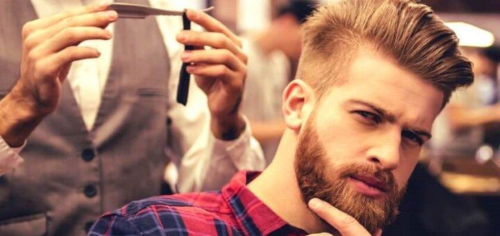 Мужская стрижка и коррекция бороды в барбершопе «Jack»
