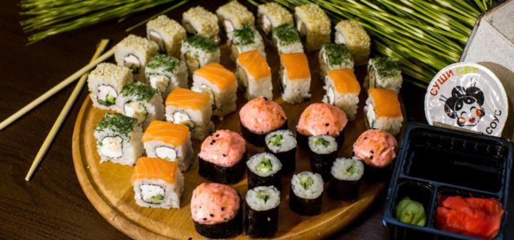 Скидка 50% на килограммовый суши-сет «Premium» в магазине «Суши Сет»