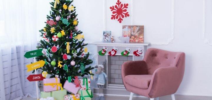 Скидка до 60% на новогоднюю студийную фотосессию от фотостудии «OLIVKA»