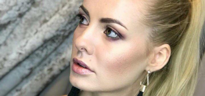 Вечерний макияж или смоки-айс с прической от профессионального визажиста Алены Лавли