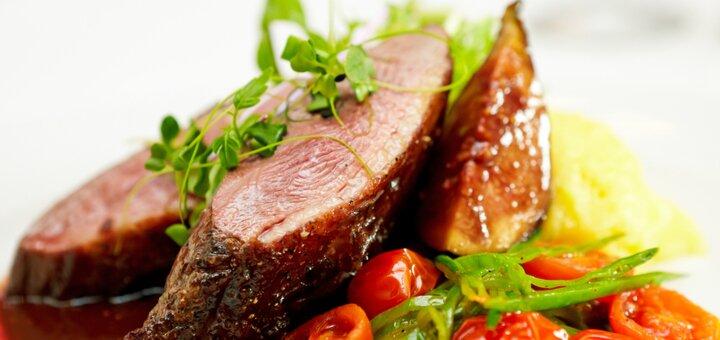 Скидка 50% на всё меню кухни в европейском ресторане «Автограф»