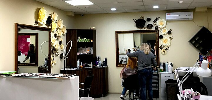 Cтрижка, окрашивание, полировка, уход и лечение волос в сети салонов красоты «NogotOk»