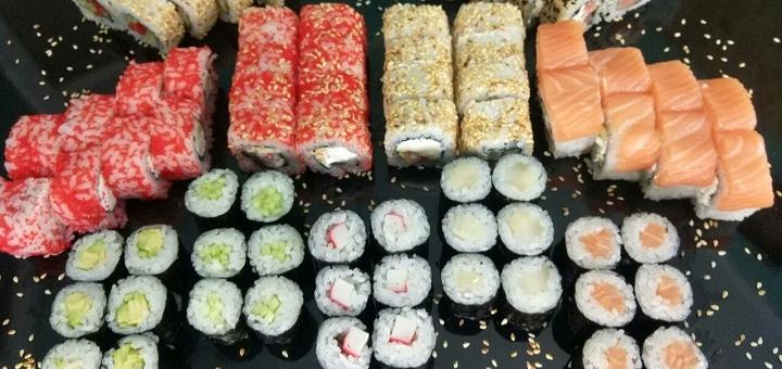 Знижка 40% на набори суші з доставкою чи самовивозом від служби доставки японської їжі «Katana»