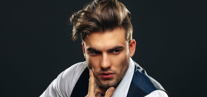 Мужская стрижка c укладкой и пилингом кожи головы в салоне красоты «Persona»