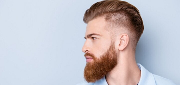 Мужская стрижка и укладка волос с коррекцией бороды в «Iraqis Barbershop»