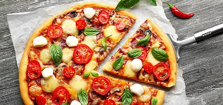 Скидка 50% на меню пиццы от пиццерии «Пицца тут»
