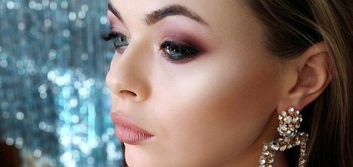 Праздничный профессиональный макияж и укладка волос от Алексеенко Кристины