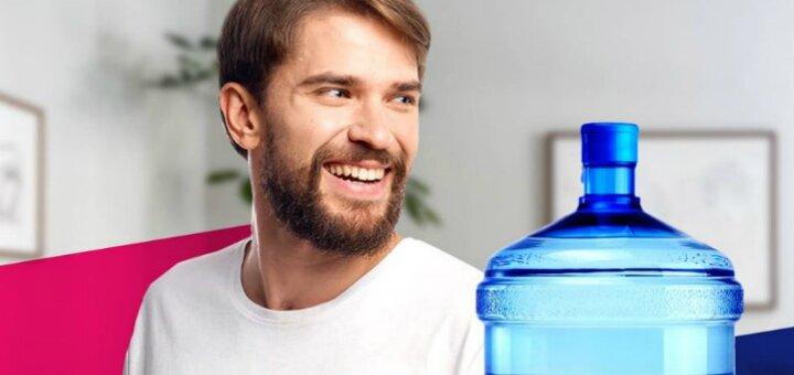 До 14 бутылей артезианской воды с доставкой домой или в офис от компании «Аквазалежні»