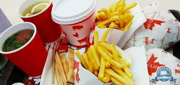 Скидка 50% на бургер или комбо-меню «Летний сезон» от сети ресторанов «Burger CLUB»