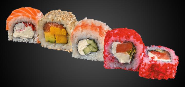 Скидка 50% на суши-сеты от службы доставки «Frytop»