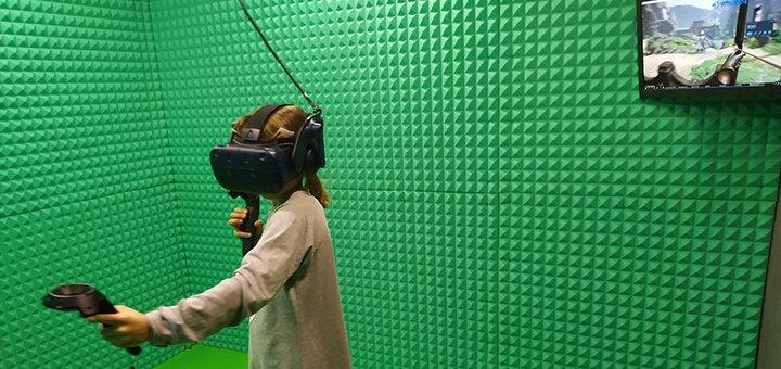 Знижка 35% на сеанс гри у будній день в шоломі HTC Vive PRO в центрі розваг «VR Port»