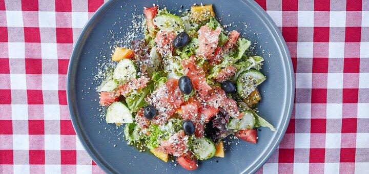 Скидка 50% на все меню кухни в пиццерии с летней террасой «Al Forno Pizzeria»