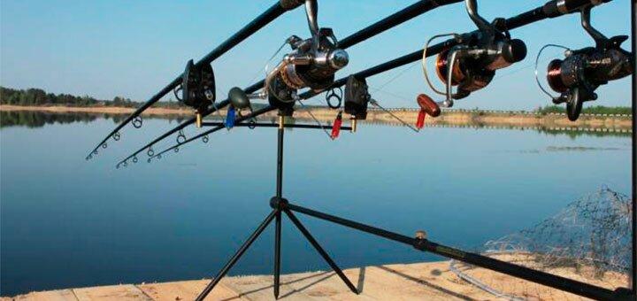 Рыбалка с понтона с арендой беседки и мангала на озере Глория в «Gloriya Fishing»
