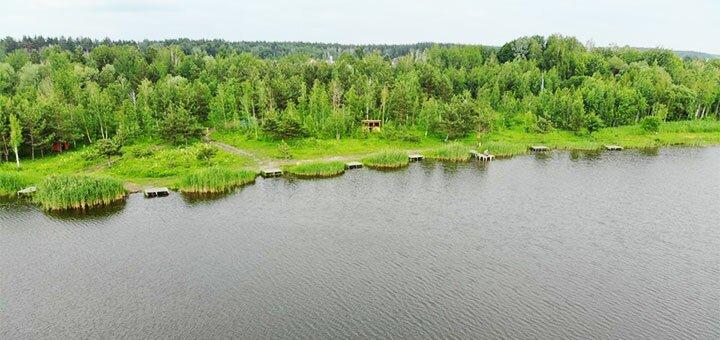 Рыбалка для восьмерых с арендой шатра и мангала на озере Глория в «Gloriya Fishing»