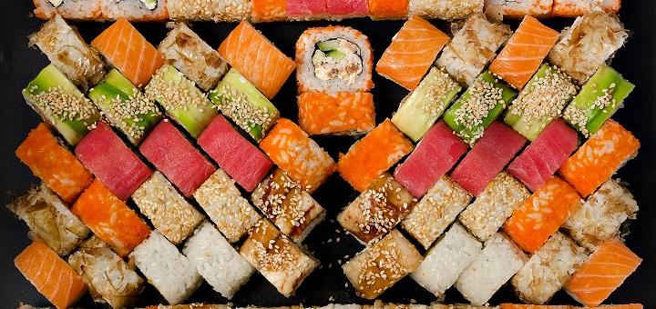 Служба доставка еды Гурман / Скидка 50% на суши-сеты до 2,3кг  от службы Гурман