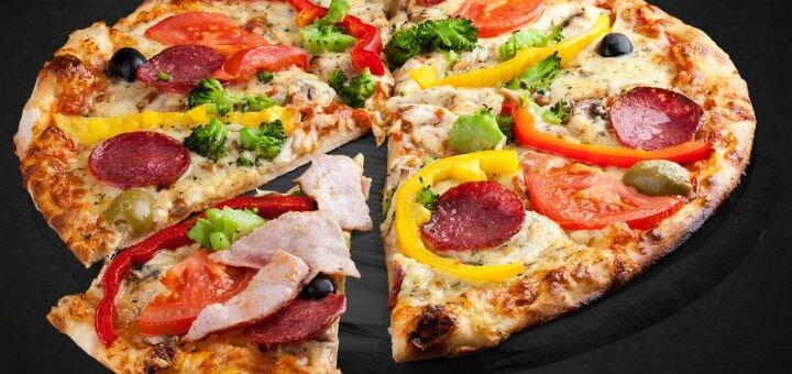 Скидка 50% на доставку пиццы, суши и роллов от ресторанного комплекса «Пушка-Миндаль»