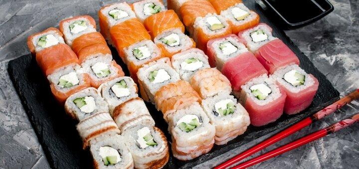 Скидка 50% на все меню от службы доставки суши и пиццы «Prime Sushi»