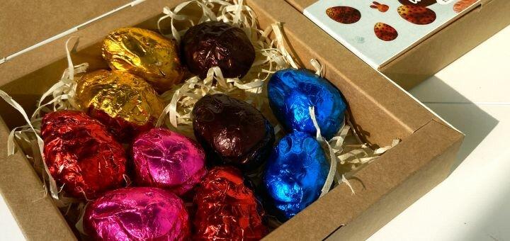 Набор конфет «Пасхальные шоколадные яйца» от магазина здоровой пищи «Смак життя»