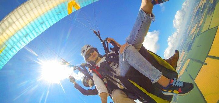 Скидка 20% на полет на параплане с инструктором от аэроклуба «Седьмое небо»