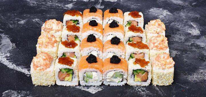 Скидка 40% на все суши-сеты с доставкой или самовывозом от суши-бара «Kiotorich»