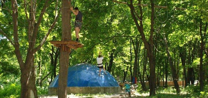 Комплекс развлечений для взрослого или ребенка в веревочном парке «S-Park»
