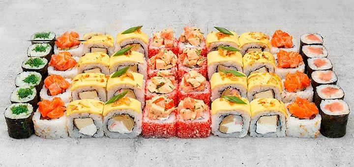 Скидка 50% на суши-сет «Челси» с доставкой или самовывозом от сети доставки суши «Watatsumi»