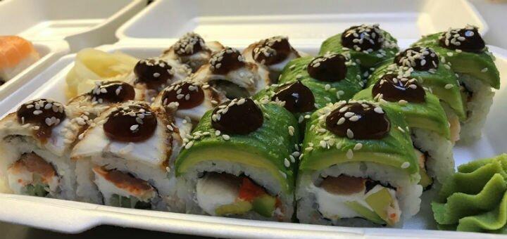 Скидка 40% на все суши, роллы и сеты с доставкой или самовывозом от «Kiki Mama Sushi»