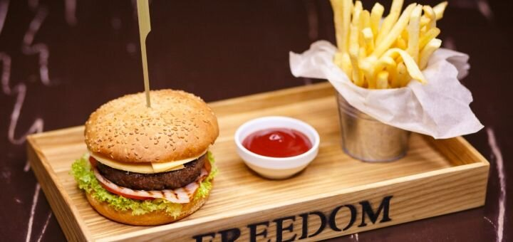 Скидка 40% на все меню кухни от «Freedom party bar»
