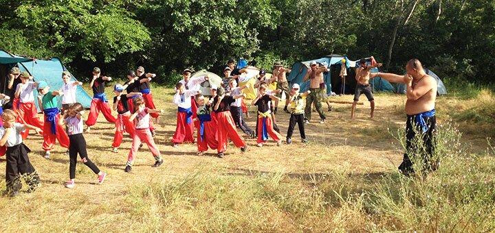 10 дней с питанием, развлечениями и занятиями в детском лагере «Хортицкая Сечь» в Запорожье