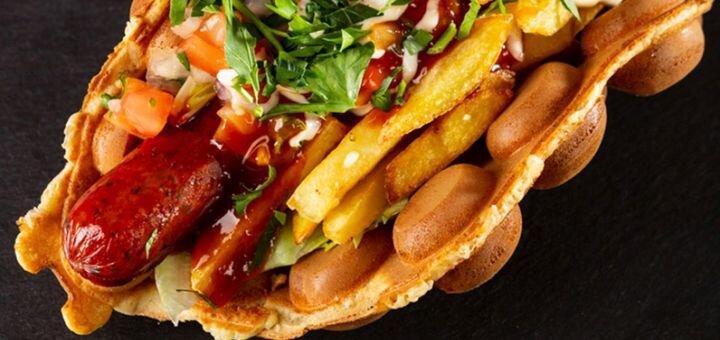 Скидка 30% на всё меню кухни с доставкой или самовывозом от «Waffle Bar»