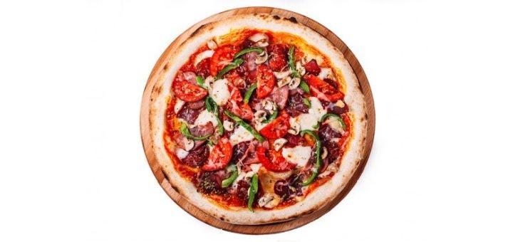 Скидка 50% на все меню пиццы от службы доставки «Рыбарис»