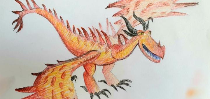 Онлайн-мастер-класс «Рисуем Кривоклыка» цветными карандашами от студии «Tree Art»