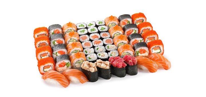 Скидка до 50% на все меню кухни и суши-сеты с доставкой или самовывозом от «Sushi Jen»