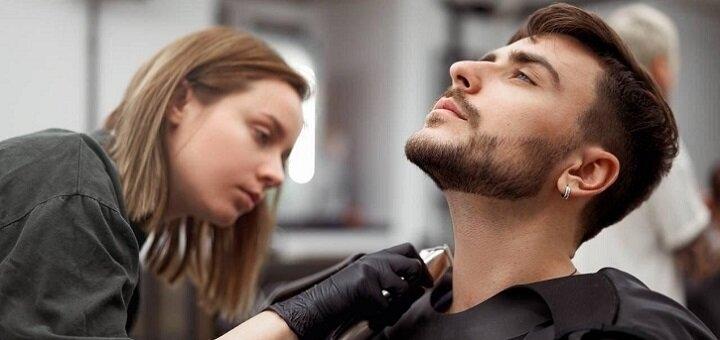 Мужская стрижка и стрижка бороды в барбершопе «Аутентично»