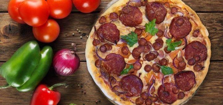 Скидка 50% на всё меню кухни, пиццу, чай и кофе на вынос и с доставкой в пиццерии «Primo Caffe»