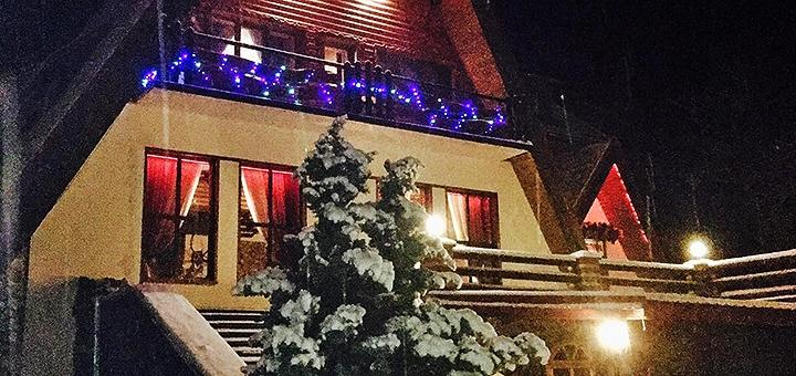 От 2 дней зимнего горнолыжного отдыха с питанием в отеле «Лісова казка» в Закарпатье